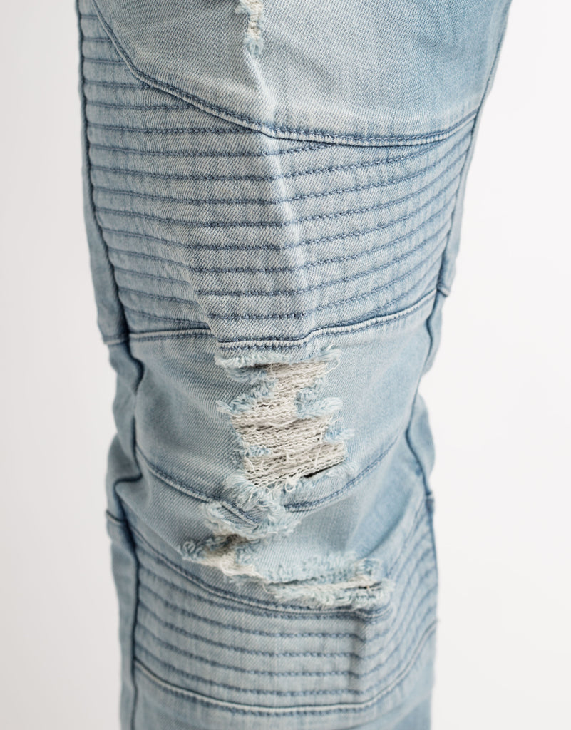 C&S BL MOTO DISTRESSED JOGGER PANTS