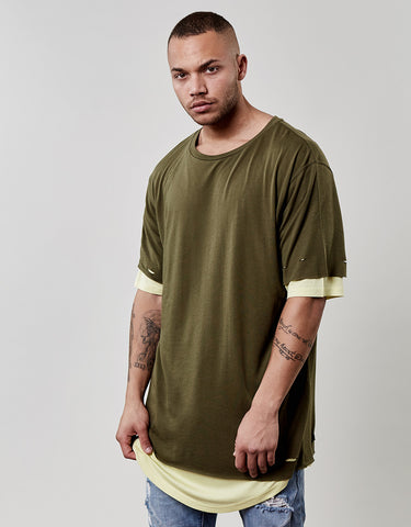CSBL DEUCES LONG LAYER TEE
