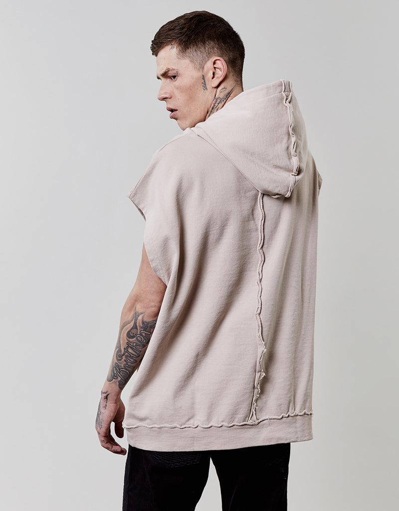 CSBL ON TOP DROBSHOULDER SLEEVELESS HOODY