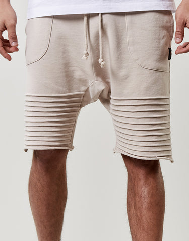 CSBL PLEATED LOW CROTCH SWEATSHORTS