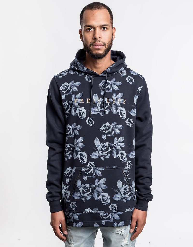 C&S WL PARIS LIFE LONG HOODY