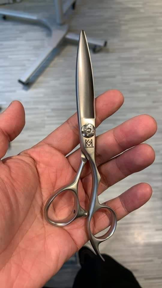 yoiscissors.co.uk Hairdressing Scissors Silver matte Green Mouse Matt Slicer