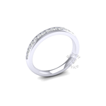 Channel Set Diamond Ring in 18ct White Gold (0.45 ct.)