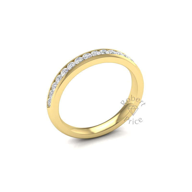 Channel Set Diamond Ring in 18ct Yellow Gold (0.45 ct.)