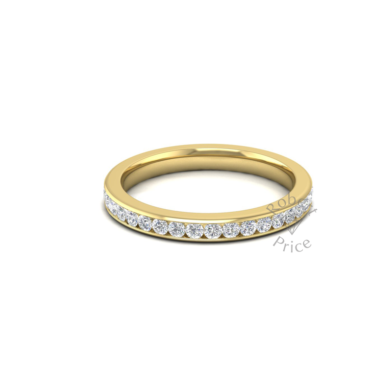 Full Channel Set Diamond Ring in 18ct Yellow Gold (0.74 ct.)