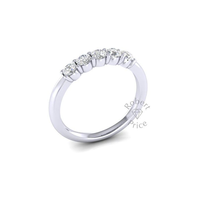 Claw Set Diamond Ring in Platinum (0.5 ct.)