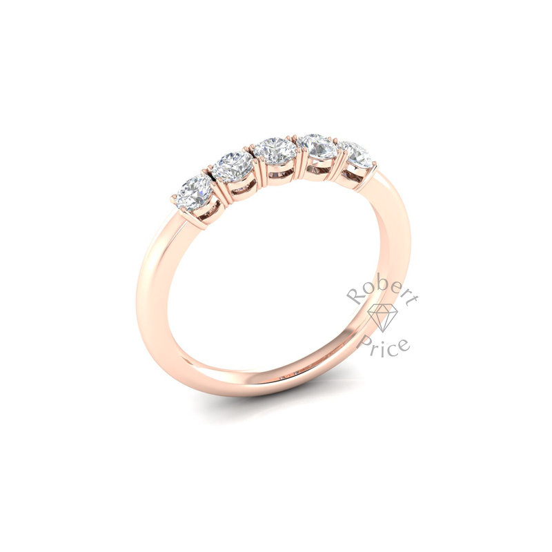 Vintage Claw Set Diamond Ring in 18ct Rose Gold (0.5 ct.)