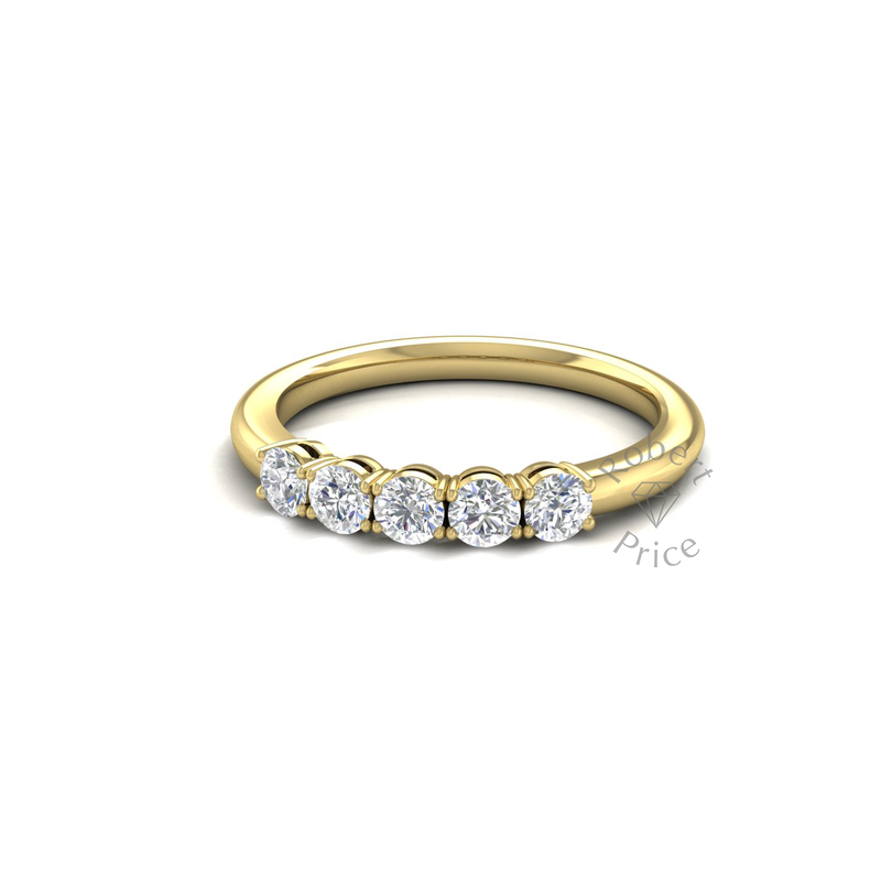 Vintage Claw Set Diamond Ring in 18ct Yellow Gold (0.5 ct.)