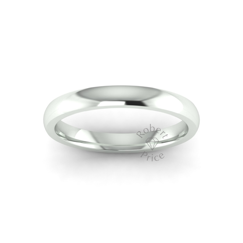 Classic Deluxe Wedding Ring in 9ct White Gold (3mm)