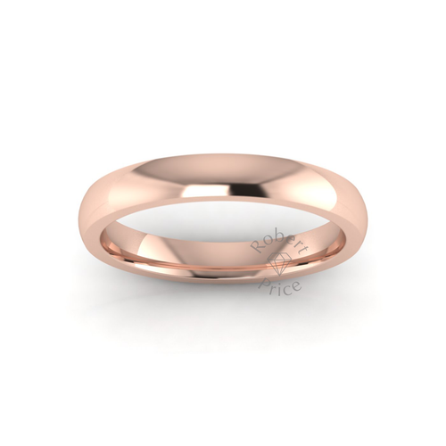 Classic Deluxe Wedding Ring in 18ct Rose Gold (3.5mm)
