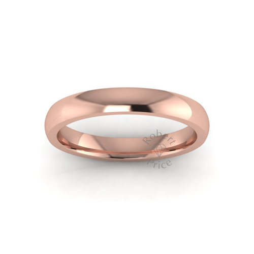 Classic Deluxe Wedding Ring in 9ct Rose Gold (3.5mm)