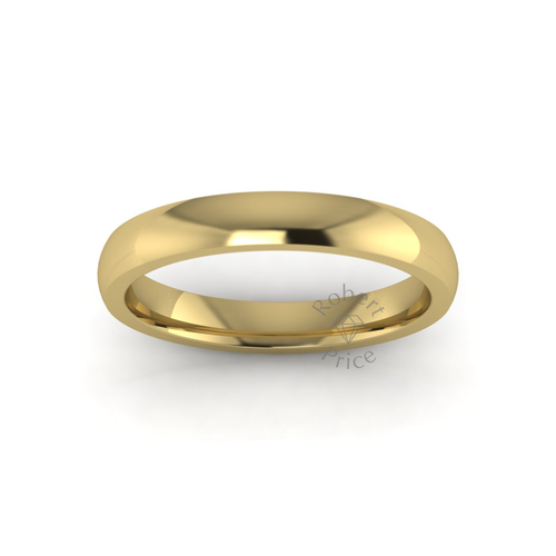 Classic Deluxe Wedding Ring in 9ct Yellow Gold (3.5mm)
