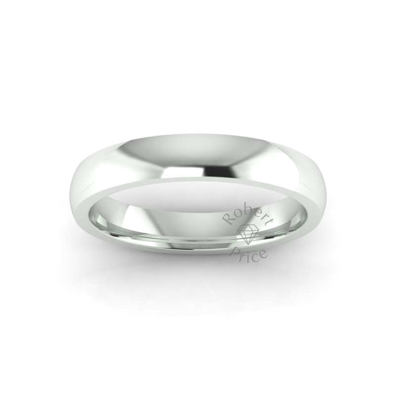 Classic Deluxe Wedding Ring in 9ct White Gold (4mm)
