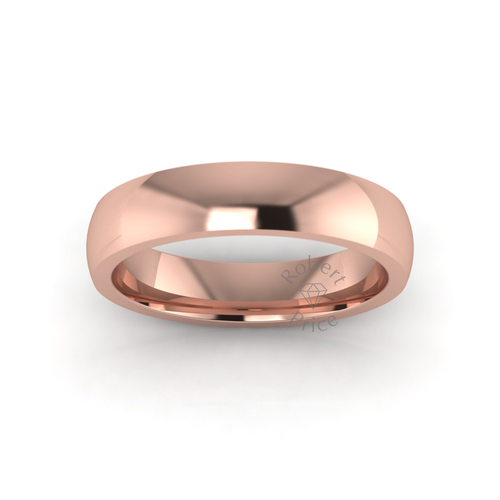 Classic Deluxe Wedding Ring in 9ct Rose Gold (5mm)