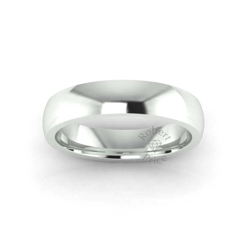 Classic Deluxe Wedding Ring in 9ct White Gold (5mm)