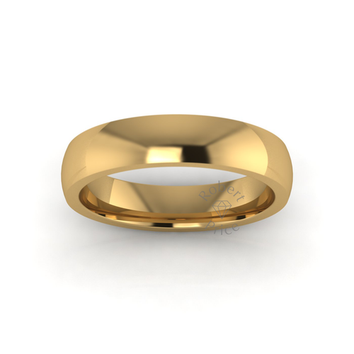 Classic Deluxe Wedding Ring in 18ct Yellow Gold (5mm)