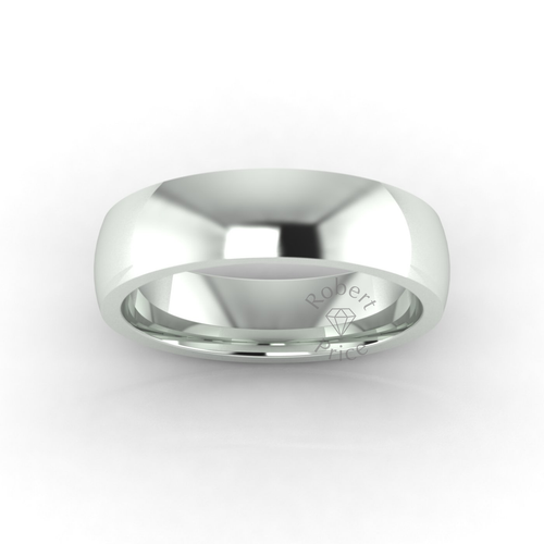 Classic Deluxe Wedding Ring in 9ct White Gold (6mm)