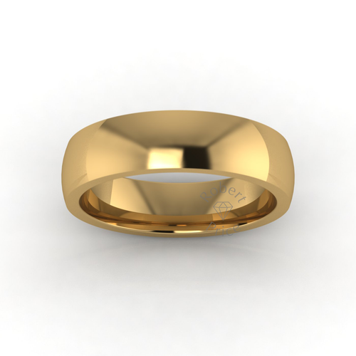 Classic Deluxe Wedding Ring in 18ct Yellow Gold (6mm)