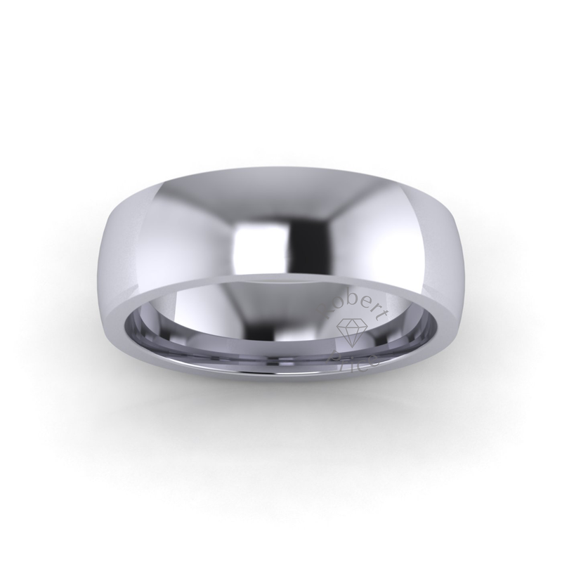 Classic Deluxe Wedding Ring in Platinum (7mm)