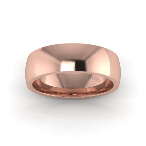 Classic Deluxe Wedding Ring in 9ct Rose Gold (7mm)