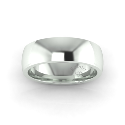 Classic Deluxe Wedding Ring in 9ct White Gold (7mm)