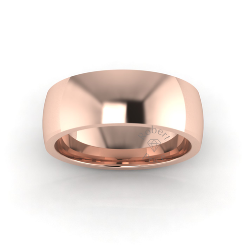 Classic Deluxe Wedding Ring in 18ct Rose Gold (8mm)