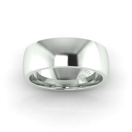 Classic Deluxe Wedding Ring in 9ct White Gold (8mm)