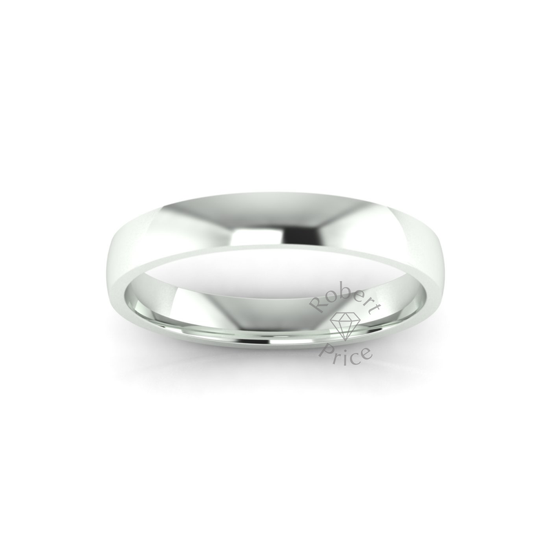 Classic Standard Wedding Ring in 9ct White Gold (4mm)