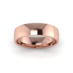 Classic Standard Wedding Ring in 9ct Rose Gold (6mm)
