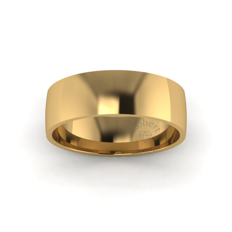 Classic Standard Wedding Ring in 18ct Yellow Gold (7mm)