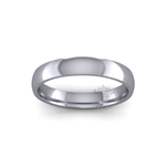 Classic Heavy Wedding Ring in Platinum (4mm)