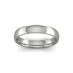 Classic Heavy Wedding Ring in 18ct White Gold (4mm)