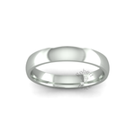 Classic Heavy Wedding Ring in 9ct White Gold (4mm)