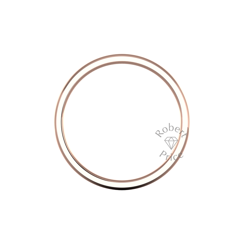 Classic Heavy Wedding Ring in 9ct Rose Gold (4mm)