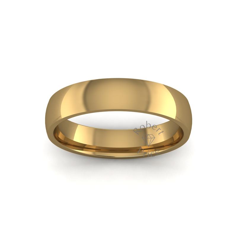 Classic Heavy Wedding Ring in 18ct Yellow Gold (5mm)
