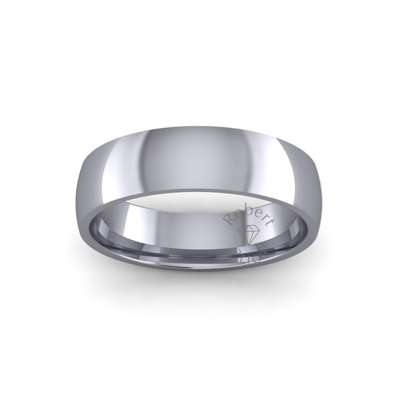 Classic Heavy Wedding Ring in Platinum (6mm)