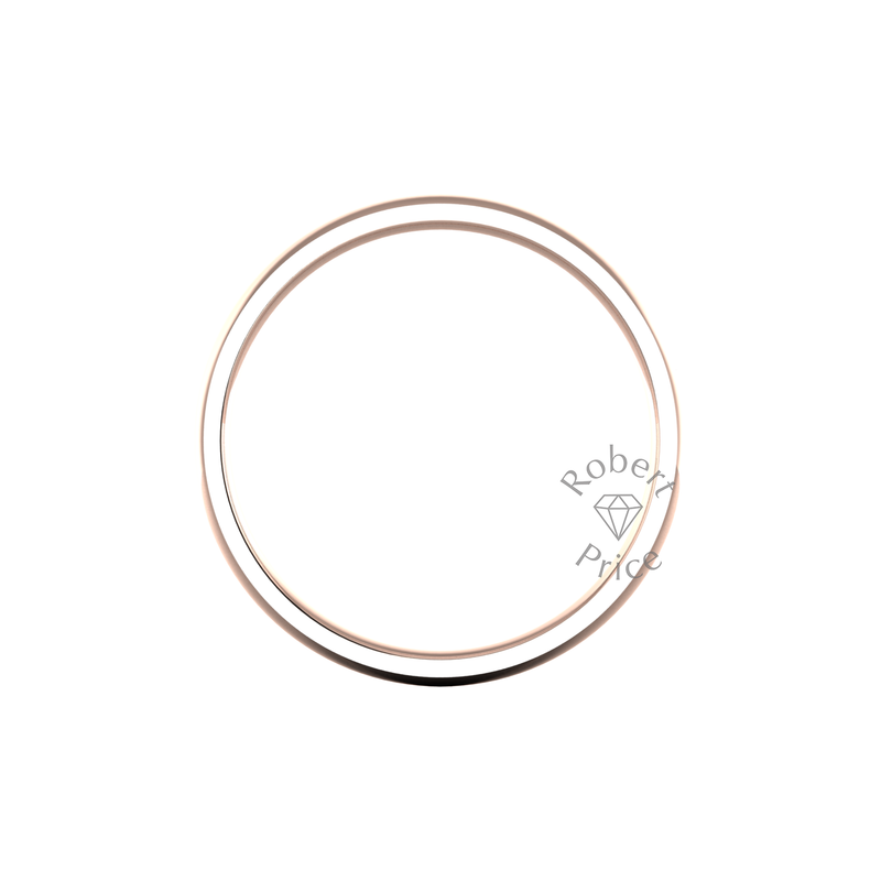 Classic Heavy Wedding Ring in 18ct Rose Gold (6mm)