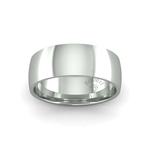 Classic Heavy Wedding Ring in 9ct White Gold (8mm)