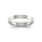 Flat Court Heavy Wedding Ring in 18ct White Gold (3mm)