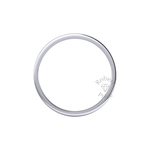 Flat Court Heavy Wedding Ring in Platinum (3.5mm)