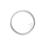 Flat Court Heavy Wedding Ring in 18ct White Gold (4mm)