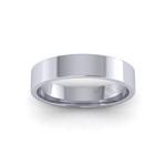 Flat Court Heavy Wedding Ring in Platinum (5mm)