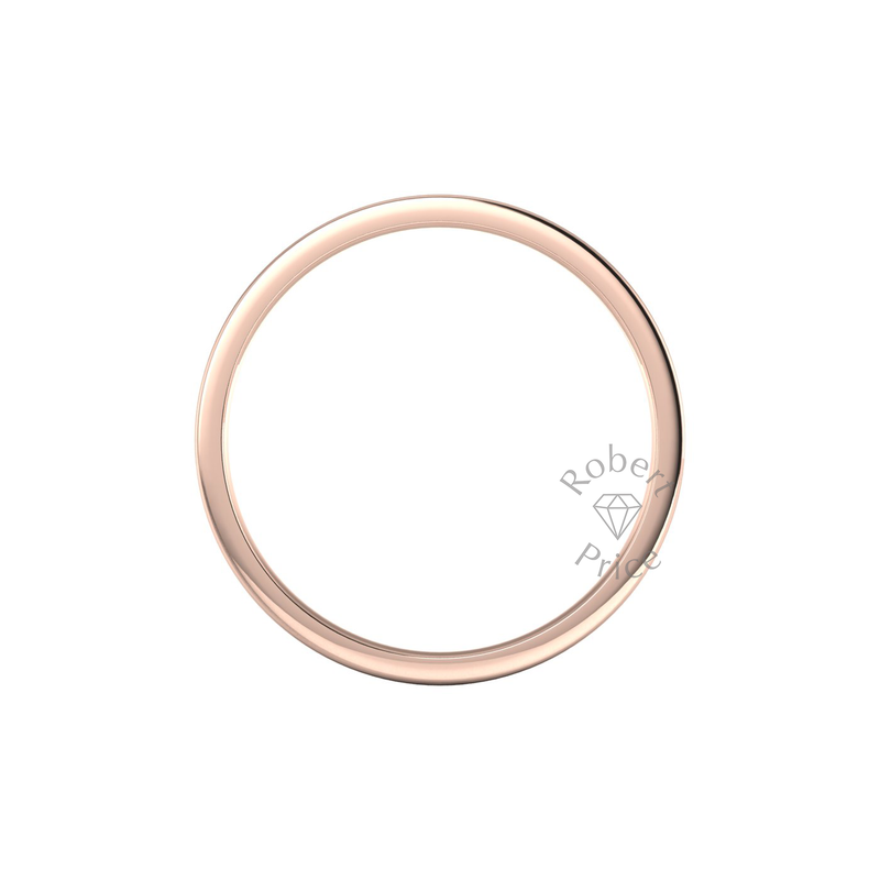 Flat Court Heavy Wedding Ring in 18ct Rose Gold (5mm)