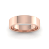Flat Court Heavy Wedding Ring in 18ct Rose Gold (6mm)
