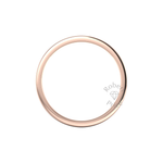 Flat Court Heavy Wedding Ring in 18ct Rose Gold (8mm)
