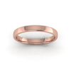 Soft Court Heavy Wedding Ring in 9ct Rose Gold (3mm)