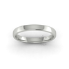 Soft Court Heavy Wedding Ring in 18ct White Gold (3mm)