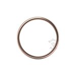 Soft Court Heavy Wedding Ring in 18ct Rose Gold (3mm)