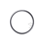 Soft Court Heavy Wedding Ring in Platinum (3.5mm)