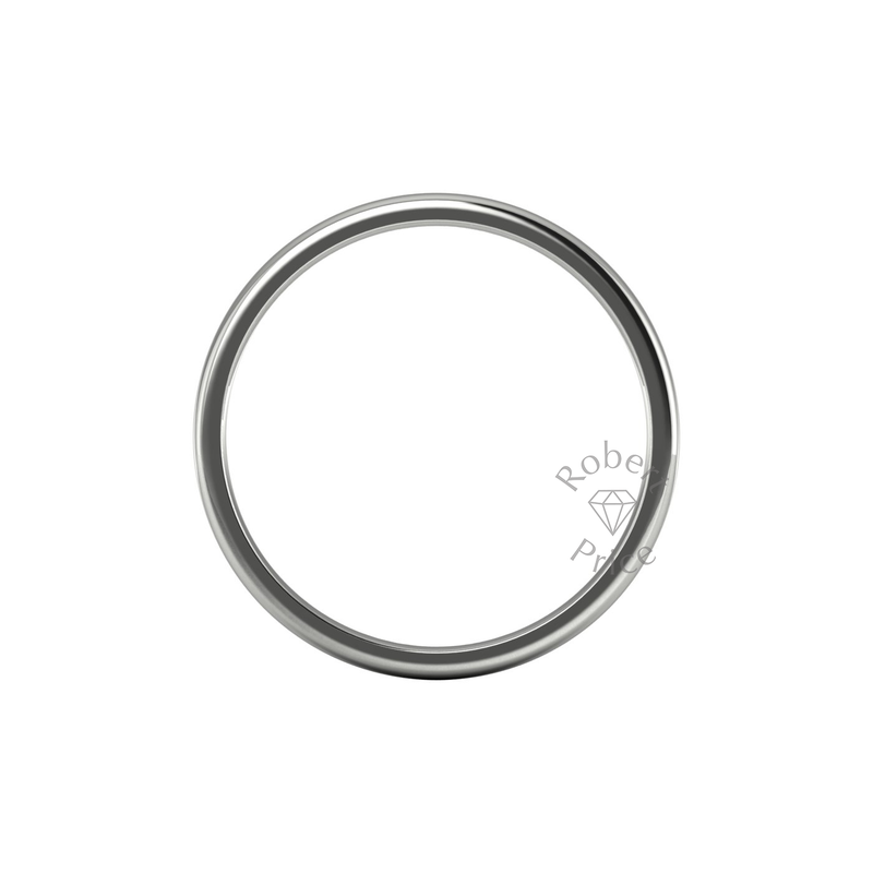 Soft Court Heavy Wedding Ring in 18ct White Gold (3.5mm)